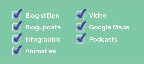 checklist blogs verrijken qontent matters